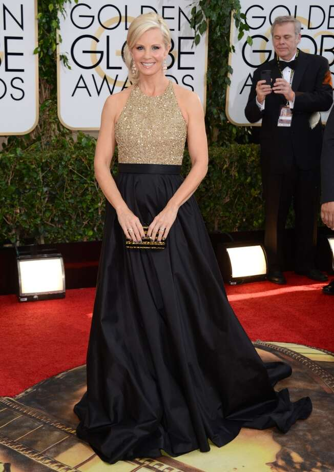 Monica Potter arrives at the 71st annual Golden Globe Awards at the Beverly Hilton Hotel on Sunday, Jan. 12, 2014, in Beverly Hills, Calif. Photo: Jordan Strauss, Associated Press