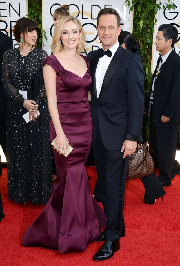 Sophie Flack, left, and Josh Charles arrive at the 71st annual Golden Globe Awards at the Beverly Hilton Hotel on Sunday, Jan. 12, 2014, in Beverly Hills, Calif. Photo: Jordan Strauss, Associated Press