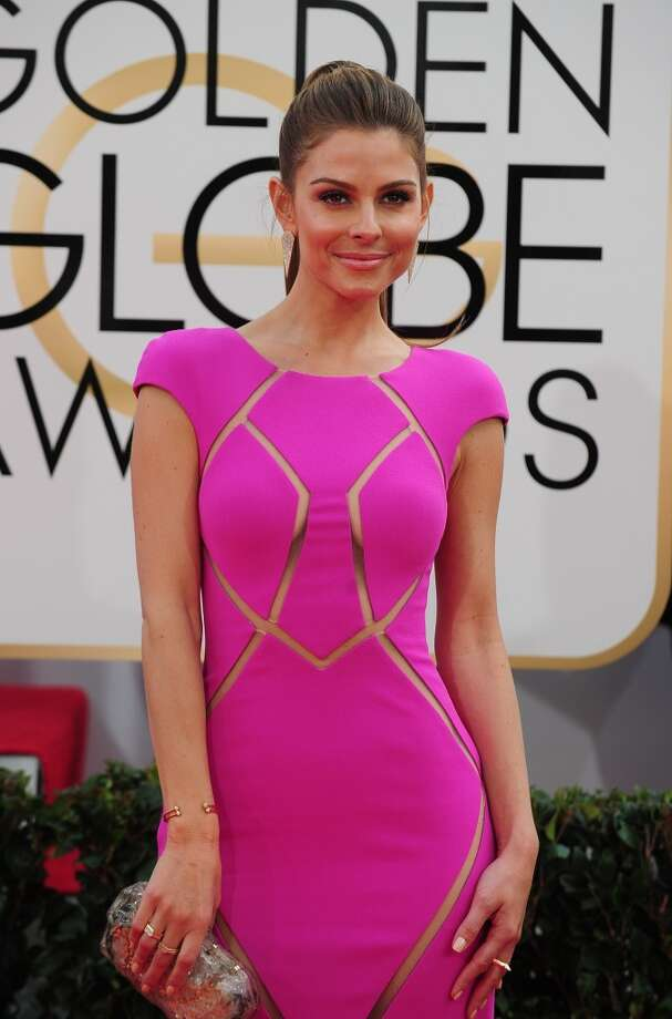 TV personality Maria Menounos arrives on the red carpet for the Golden Globe awards on January 12, 2014 in Beverly Hills, California. Photo: FREDERIC J. BROWN, AFP/Getty Images