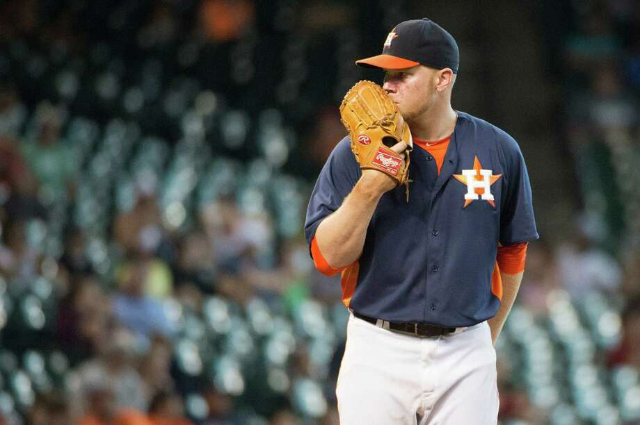 Lefty Brett Oberholtzer, 24, figures to be a mainstay in the rotation. He was 4-5 with a 2.76 ERA in 13 games - 10 starts - in 2013. Photo: Smiley N. Pool / © 2013  Smiley N. Pool