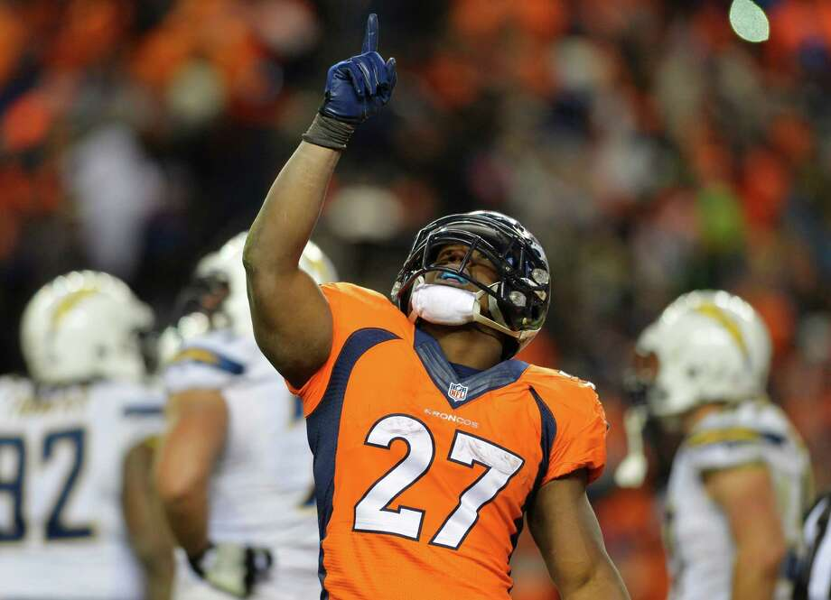 Everything was pointing up for the Broncos after running back Knowshon Moreno scored on a 3-yard run midway through the fourth quarter Sunday. Photo: Jack Dempsey, FRE / FR42408 AP