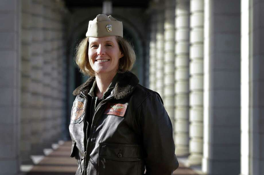 Three years ago, Navy Cmdr. Valerie Overstreet took advantage of a fledgling  program that allowed her to take a year off to start a family and return to duty without risking her career. Photo: Patrick Semansky / Associated Press / AP