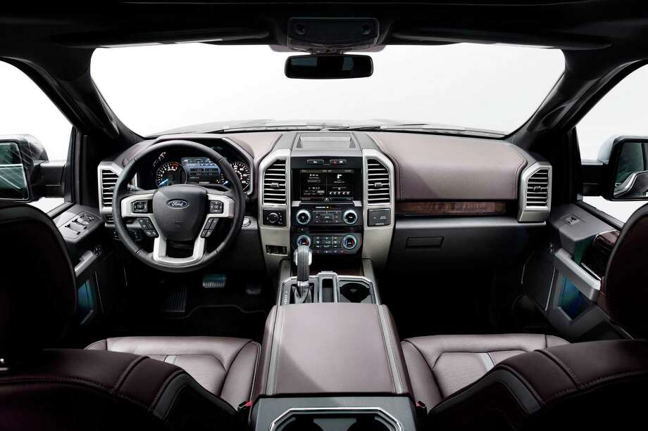Interior of the 2015 Ford F-150.