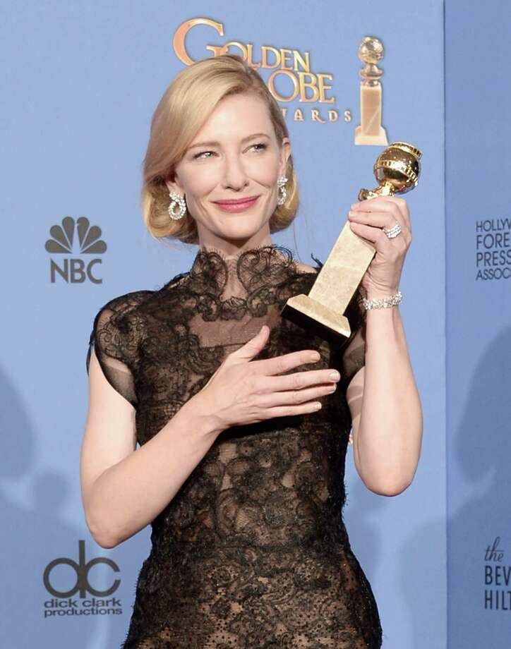 Actress Cate Blanchett, won Best Actress in a Motion Picture - Drama for 'Blue Jasmine,' at the 71st Annual Golden Globe Awards but did not get nominated for an Academy Award. Photo: Kevin Winter, Getty Images / 2014 Getty Images