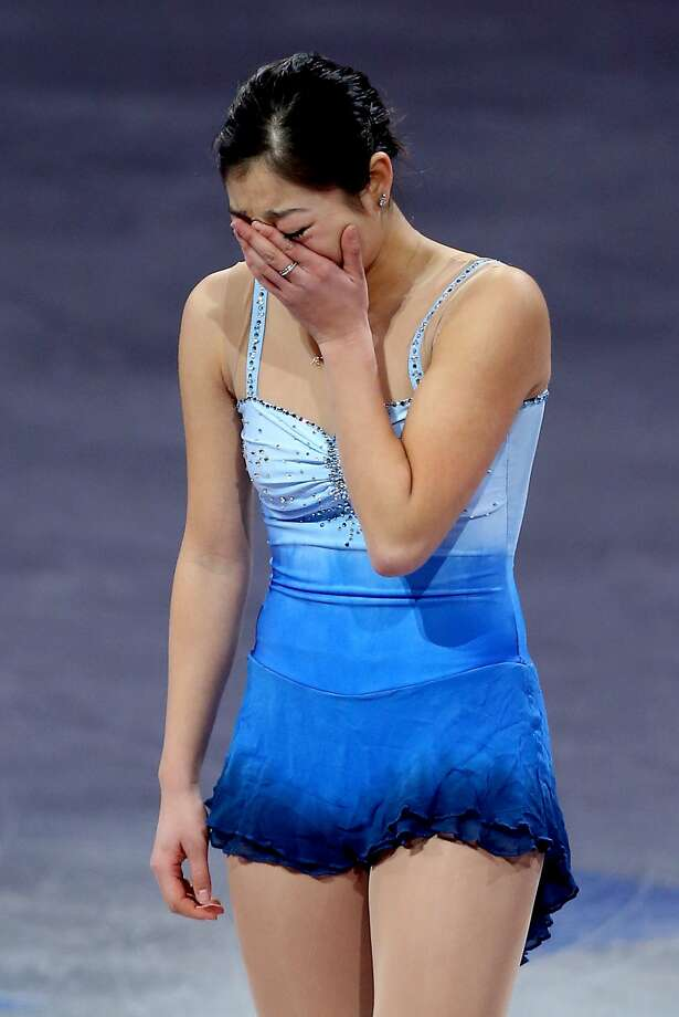 BOSTON, MA - JANUARY 12:  Marai Nagasu becomes emotional as she takes the ice for the Smucker's Skating Spectacular following the Prudential U.S. Figure Skating Championships at TD Garden on January 12, 2014 in Boston, Massachusetts.  (Photo by Matthew Stockman/Getty Images) ***BESTPIX*** Photo: Matthew Stockman, Getty Images