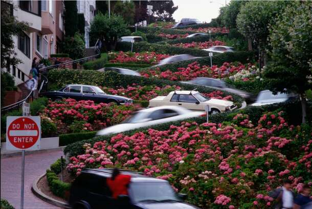 Yes, it's our favorite navigational nightmare, Lombard Street.