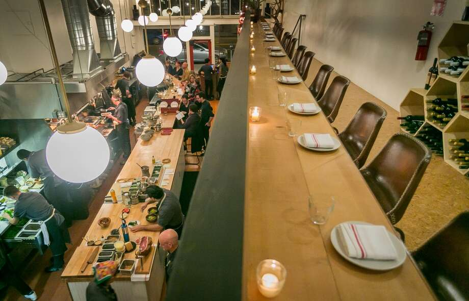 The upstairs dining area at TBD. Photo: John Storey, Special To The Chronicle