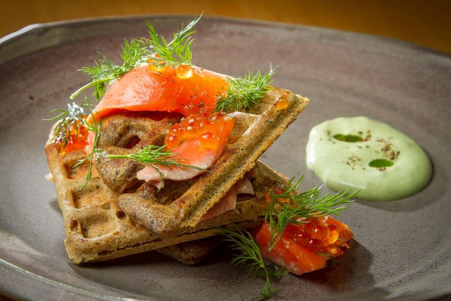 The Rainbow Trout with waffles at TBD Photo: John Storey, Special To The Chronicle