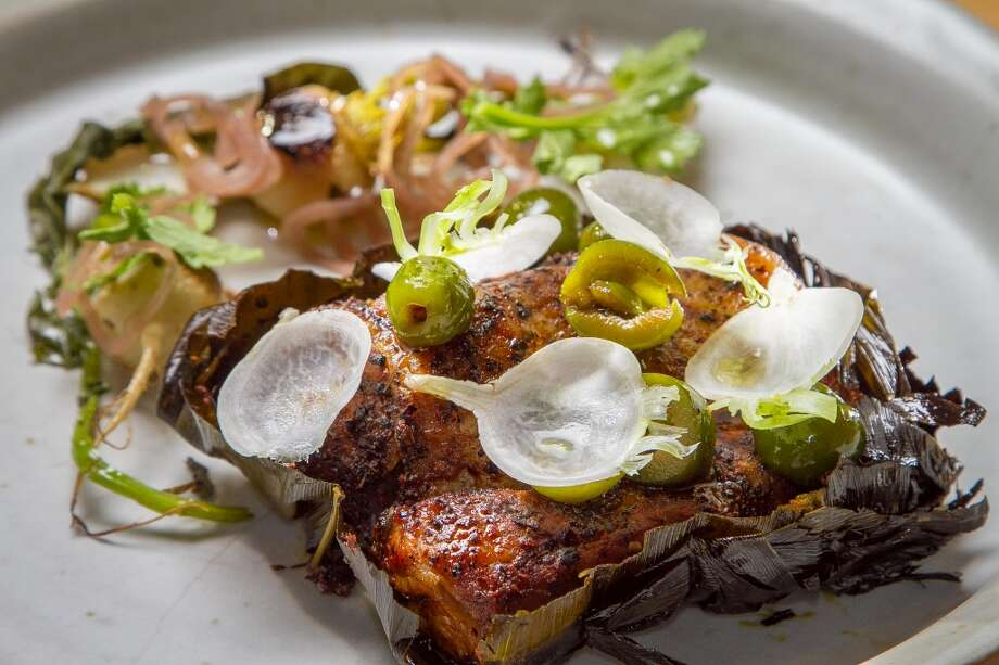 Pork cooked in tea leaves at TBD. Photo: John Storey, Special To The Chronicle