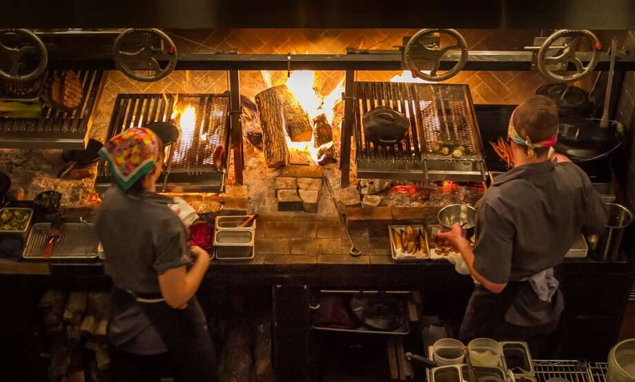 The wood fire grill at TBD. Photo: John Storey, Special To The Chronicle