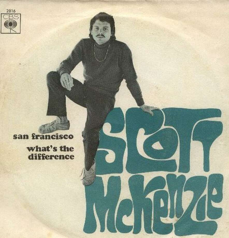 "Scott McKenzie, ""San Francisco (Be Sure To Wear Some Flowers in Your Hair)"": Written in Los Angeles as a promotional tool for the Monterey Pop Festival, the song's hippie dippy vision of the city stank up Haight Street for decades to come. Listen to the song. Photo: Ode Records"