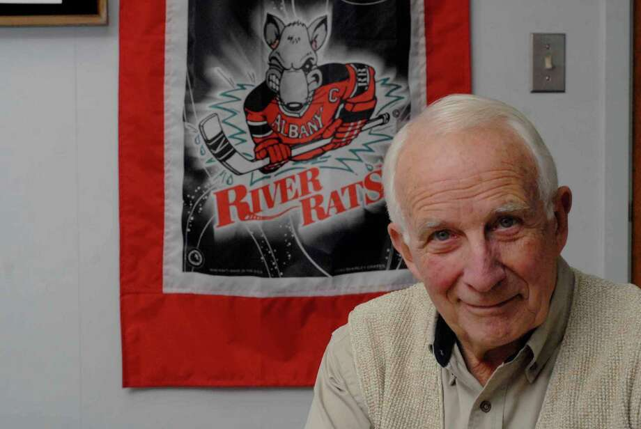 Walter Robb, former owner of the Albany River Rats, at his office at Vantage Management Inc. in Niskayuna, NY on Wednesday, Dec. 5, 2007. Photo: Paul Buckowski, Hearst / Albany Times Union