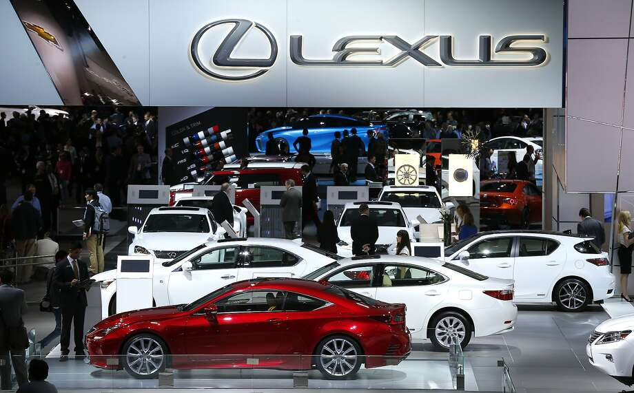 The Lexus exhibit is shown at media previews at the North American International Auto Show. Photo: Paul Sancya, Associated Press