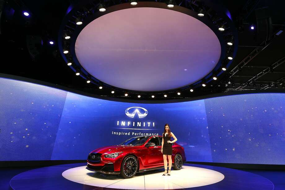 The Infinity Q50 is shown at media previews. Photo: Paul Sancya, Associated Press