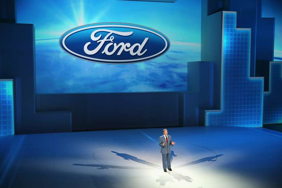 Bill Ford, executive chairman of Ford Motor Company, helps to introduce the new  Ford F-150 pickup truck. Photo: Scott Olson, Getty Images