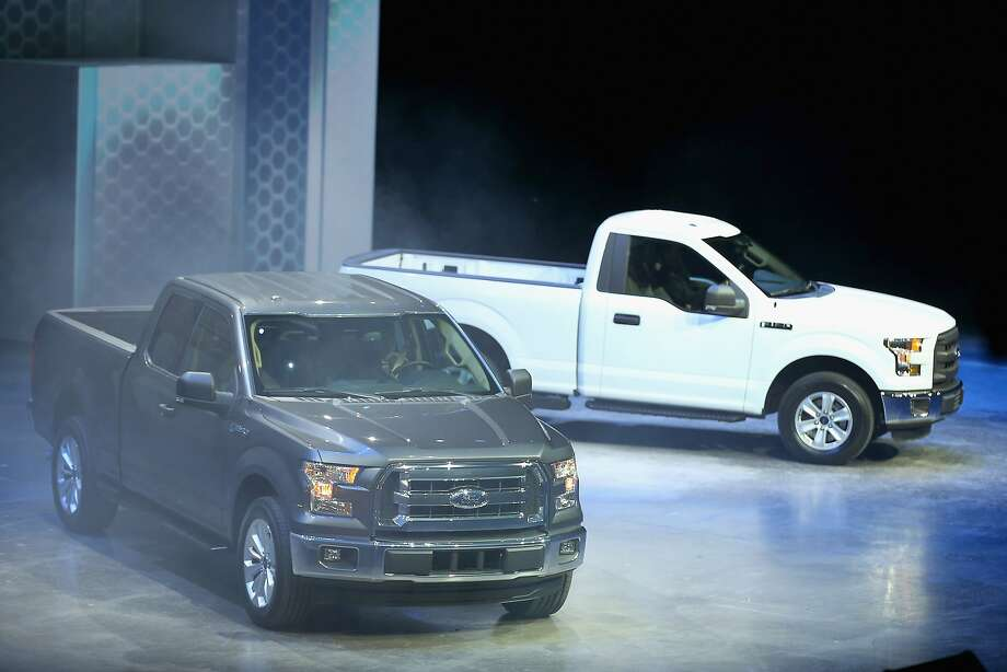 Ford introduces the new F-150 pickup truck at the North American International Auto Show. Photo: Scott Olson, Getty Images
