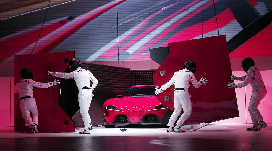 The auto show in Detroit opens on the 16th, but you can get a peek at the press preview here:The new Toyota FT-1 Concept is revealed at the press preview of the 2014 North American International Auto Show January 13, 2014 in Detroit, Michigan. Approximately 5000 journalists from more than 60 countries are expected to attend. The 2014 NAIAS opens to the public on January 18th and ends January 16th. Photo: Bill Pugliano, Getty Images