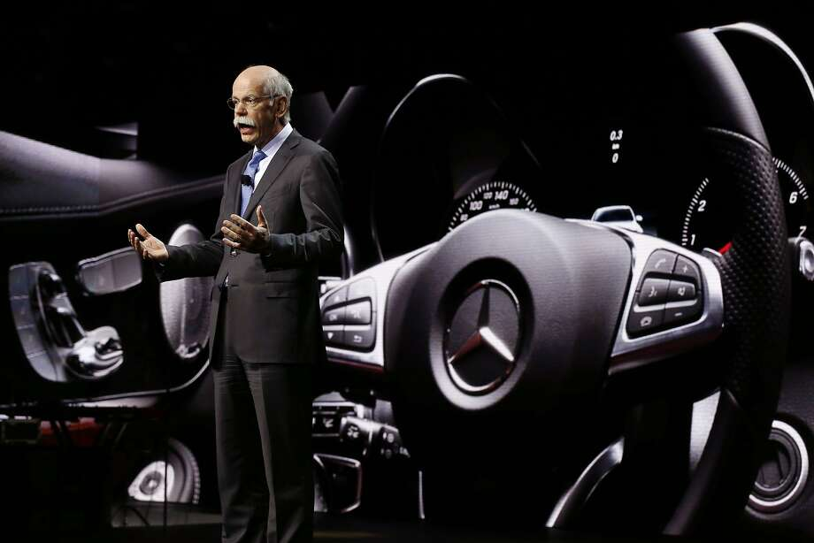 Dr. Dieter Zetsche, chairman of the board of management Daimler AG and Head of Mercedes-Benz Cars addresses the media. Photo: Carlos Osorio, Associated Press
