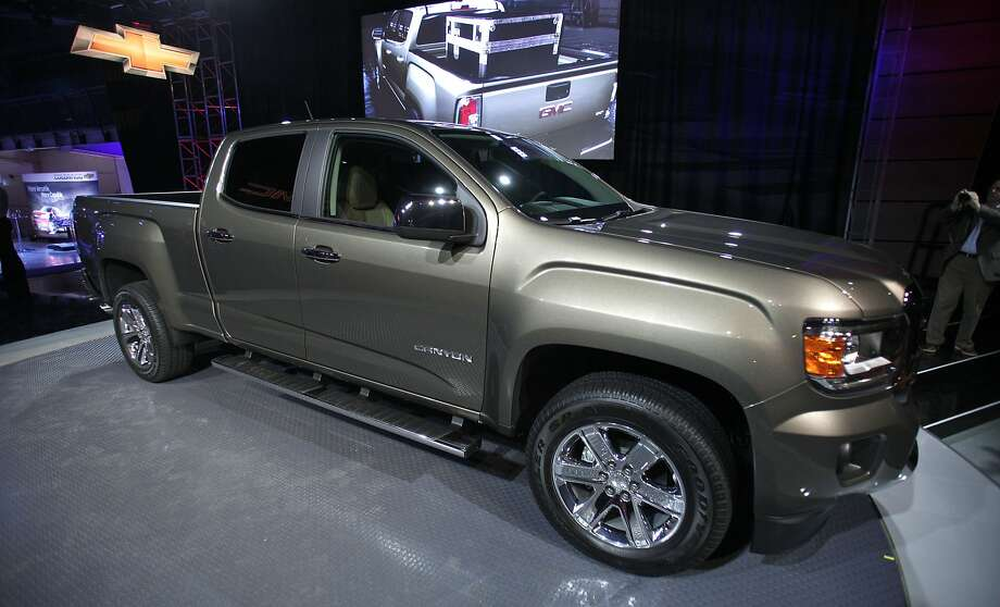 The all-new 2015 GMC Canyon midsize truck makes its world debut on the eve of the press preview of the 2014 North American International Auto Show. Photo: Bill Pugliano, Getty Images
