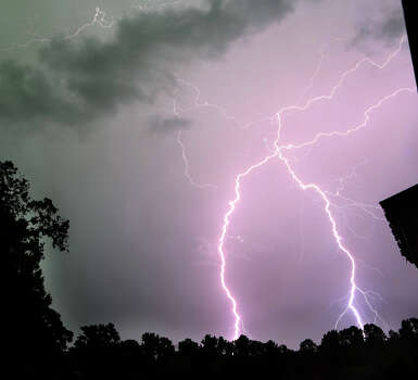 Lightning strikes: If lightning strikes the river while you're in it, you could get more than a little zap. Best to pack it in if a storm is threatening.  Photo: Dr. Scott M. Lieberman, Associated Press / FR170792 AP