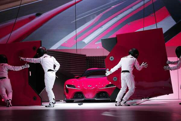 The new Toyota FT-1 Concept is revealed at the press preview of the 2014 North American International Auto Show January 13, 2014 in Detroit, Michigan. Approximately 5000 journalists from more than 60 countries are expected to attend. The 2014 NAIAS opens to the public on January 18th and ends January 16th.