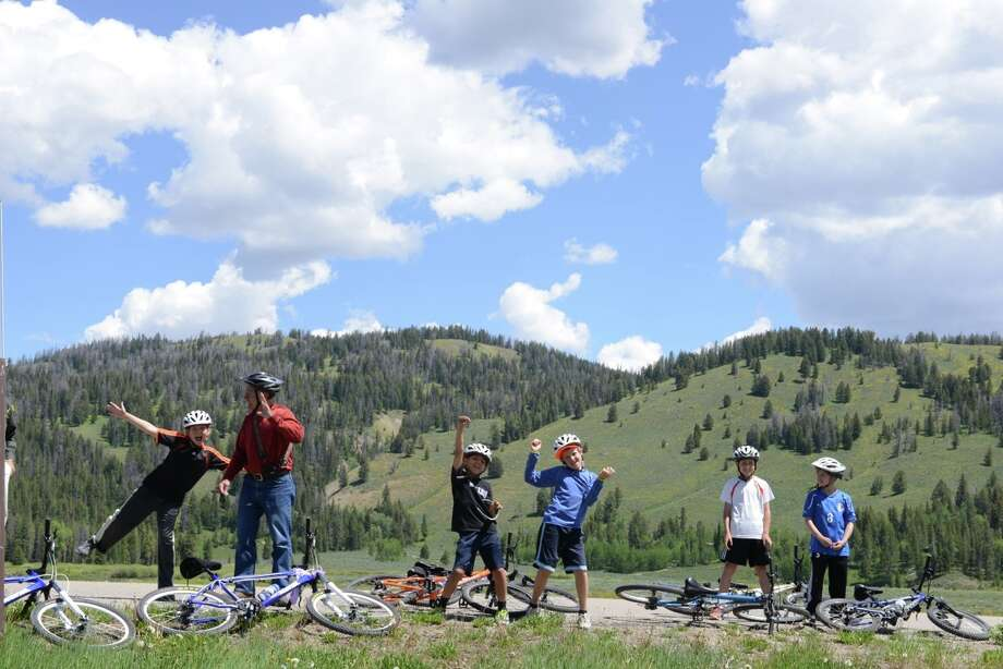 Participants on a Road Scholar intergenerational program in Wyoming's  Tetons.