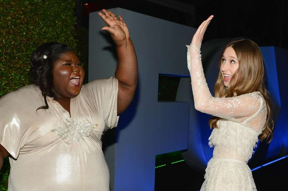 Actresses Gabourey Sidibe and Taissa Farmiga attend the Fox And FX's 2014 Golden Globe Awards Party on January 12, 2014 in Beverly Hills, California. Photo: Mark Davis, Getty Images