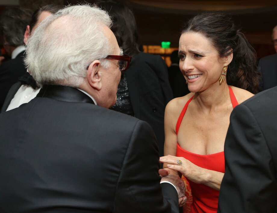 Martin Scorsese (L) and Julia Louis-Dreyfus attend HBO's Post 2014 Golden Globe Awards Party held at Circa 55 Restaurant on January 12, 2014 in Los Angeles, California. Photo: Mike Windle, Getty Images