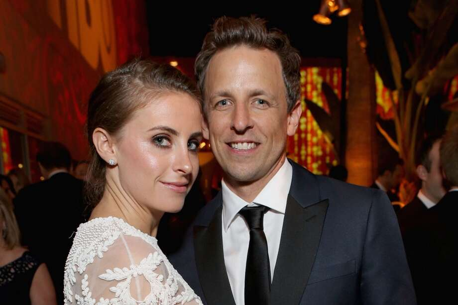 Alexi Ashe and actor Seth Meyers attend HBO's Post 2014 Golden Globe Awards Party held at Circa 55 Restaurant on January 12, 2014 in Los Angeles, California. Photo: Mike Windle, Getty Images