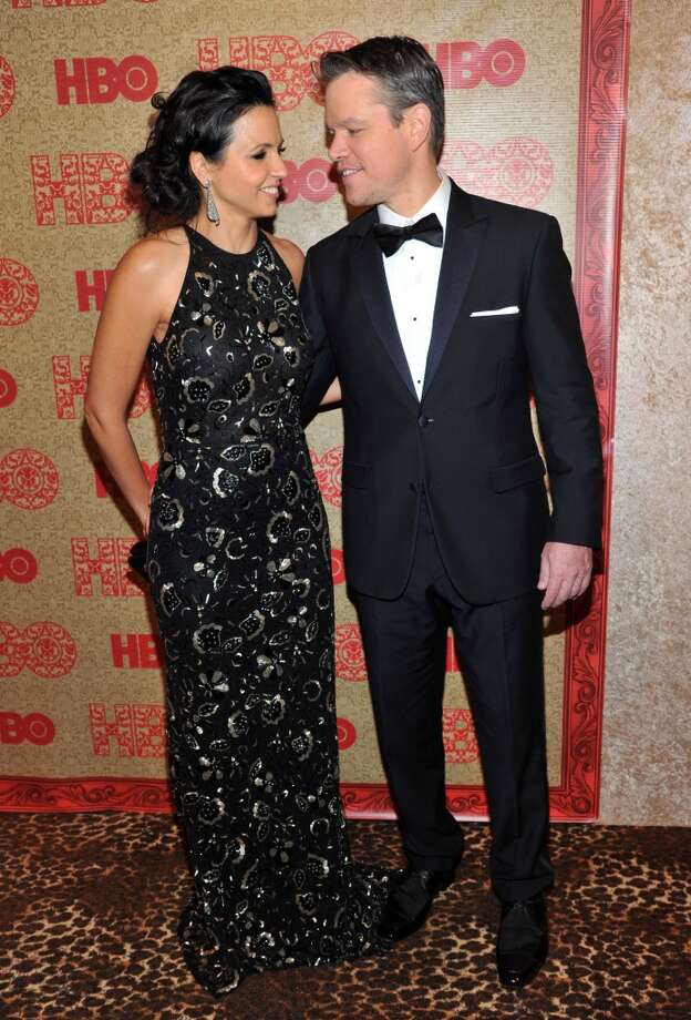 Matt Damon, right, and Luciana Barroso arrive at the HBO Golden Globes after party at the Beverly Hilton Hotel on Sunday, Jan. 12, 2014, in Beverly Hills, Calif. Photo: Richard Shotwell, Associated Press