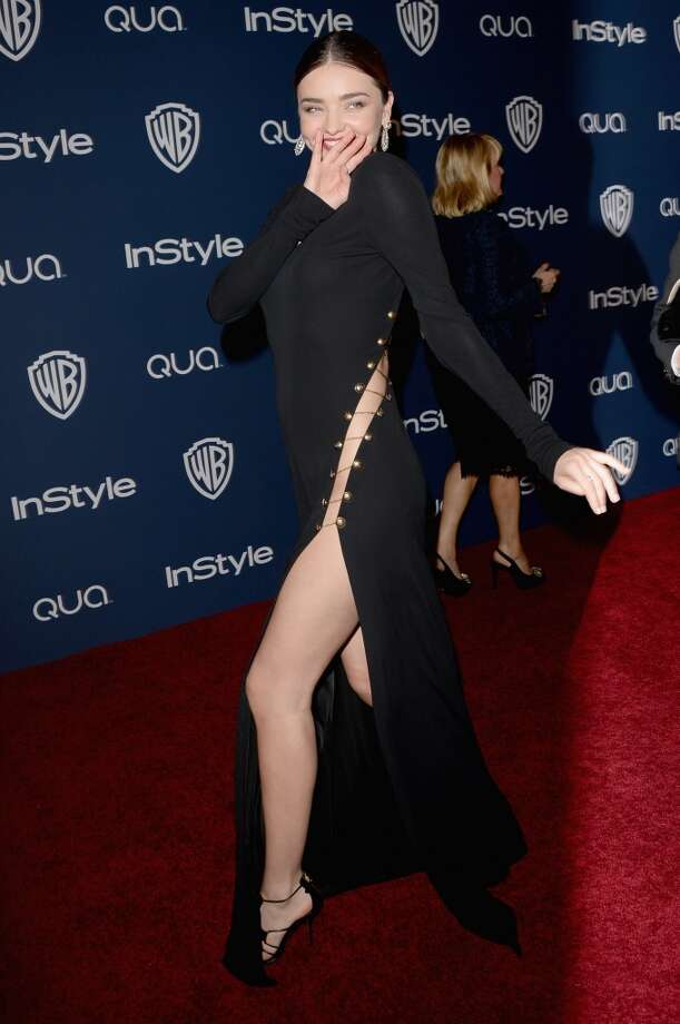 Model Miranda Kerr attends the 2014 InStyle and Warner Bros. 71st Annual Golden Globe Awards Post-Party on January 12, 2014 in Beverly Hills, California. Photo: Jason Merritt, Getty Images
