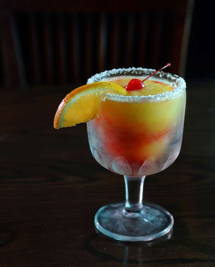 Pictured is the Mango Berry Rita at Rancho Grande in Port Arthur. Rancho Grande is the CAT5 Restaurant of the Week for January 9, 2014. Photo taken Thursday, 1/2/14 Jake Daniels/@JakeD_in_SETX