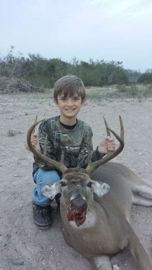 10-year-old Nicholas LaBarbera while hunting with his dad, sent in by his grandmother, Diana Simpson.