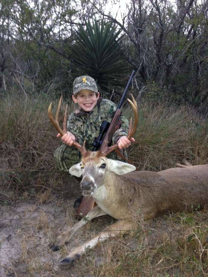 "Cortlandt Howard Cox, 9, in Rockport, Texas. He told mom Frankie Cox that he ""dropped him like a sack of potatoes."""