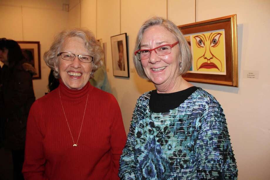 "Were you SEEN at the Stamford Art Association's ""Faces and Figures"" exhibit opening reception on Jan. 12, 2014? Photo: P. Ha-Stevenson/ Hearst Connecticut Media Group"