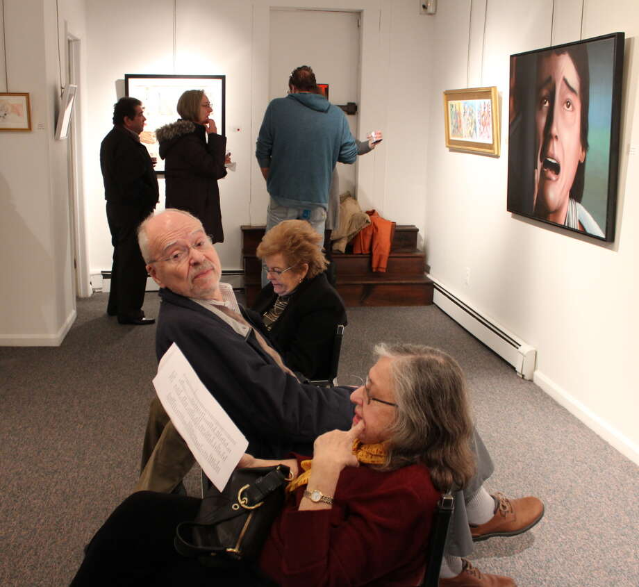 "Were you SEEN at the Stamford Art Association's ""Faces and Figures"" exhibit opening reception on Jan. 12, 2014? Photo: Picasa, P. Ha-Stevenson/ Hearst Connecticut Media Group"