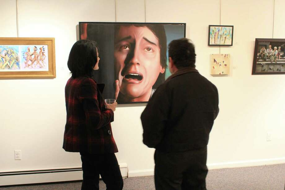 """Were you SEEN at the Stamford Art Association's """"Faces and Figures"""" exhibit opening reception on Jan. 12, 2014? Photo: Picasa, P. Ha-Stevenson/ Hearst Connecticut Media Group"""