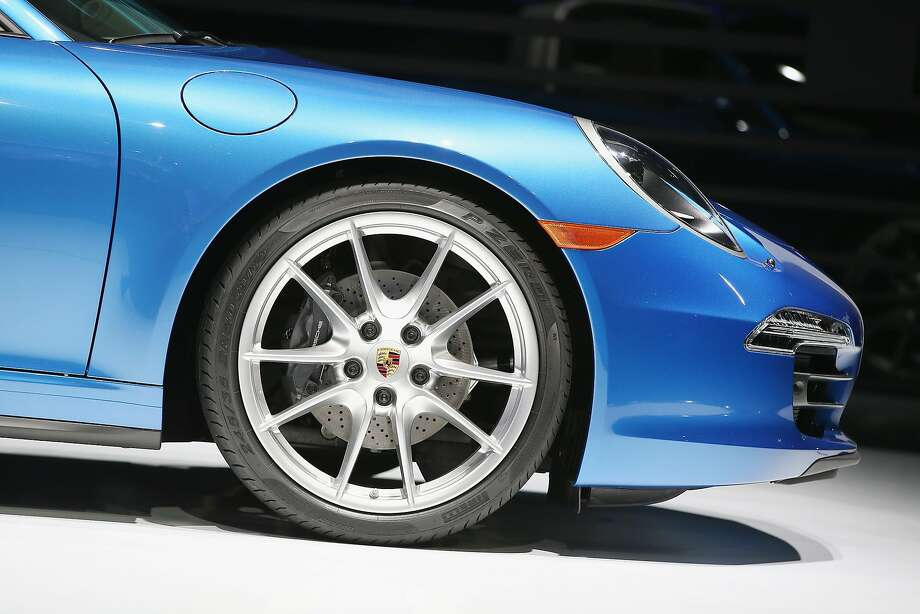Porsche introduces the new 911 Targa at the North American International Auto Show. Photo: Scott Olson, Getty Images