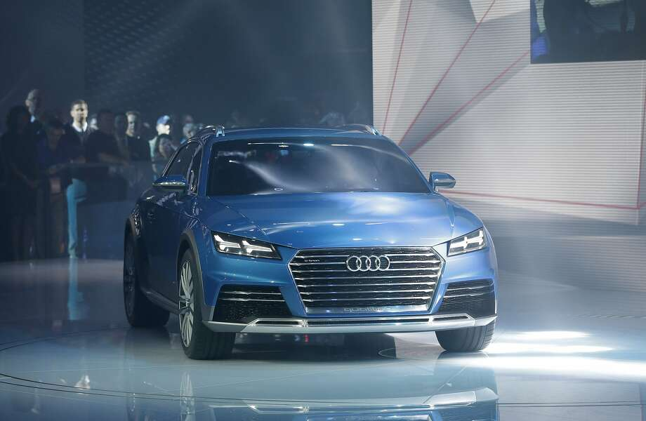 The Audi allroad shooting brake is unveiled at the North American International Auto Show in Detroit. Photo: Carlos Osorio, Associated Press