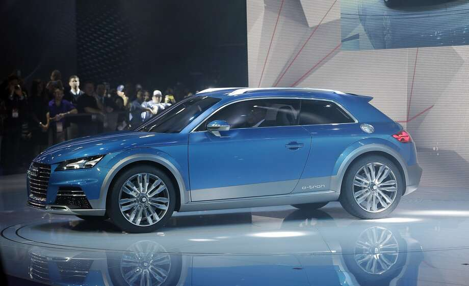 The Audi allroad shooting brake is unveiled at the North American International Auto Show in Detroit, Monday, Jan. 13, 2014. Photo: Carlos Osorio, Associated Press