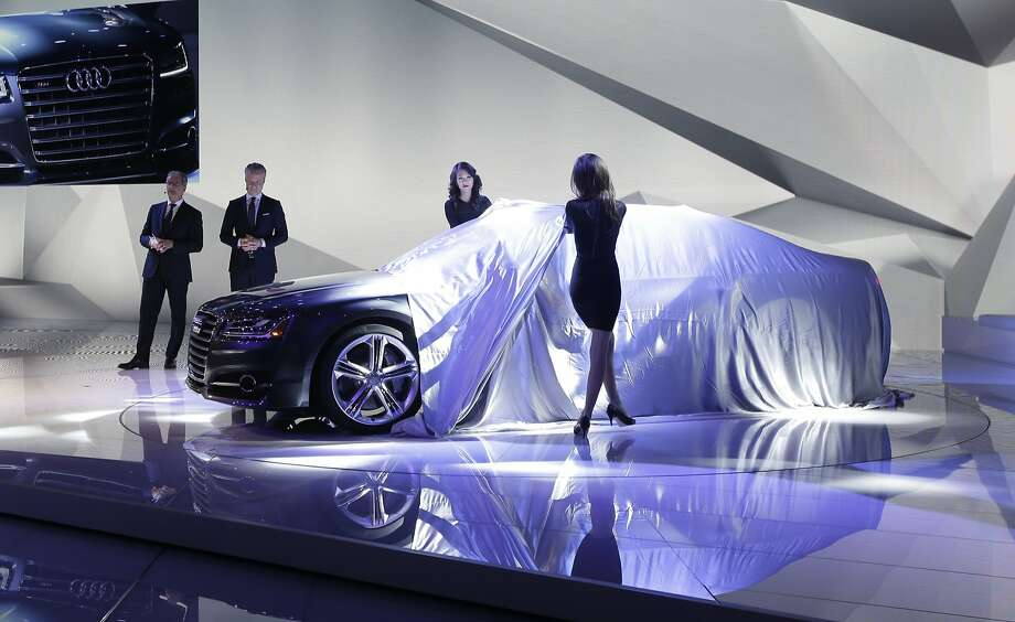 The Audi S-8 is unveiled at the North American International Auto Show in Detroit. Photo: Carlos Osorio, Associated Press