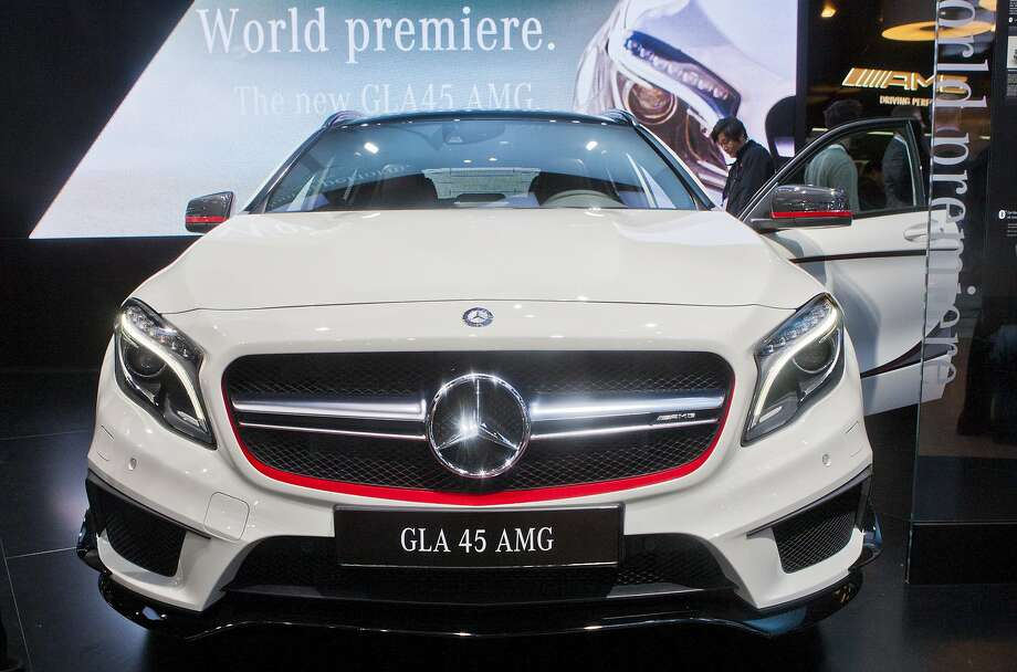 The Mercedes GLA 45 AMG compact SUV is displayed in Detroit. Photo: Tony Ding, Associated Press