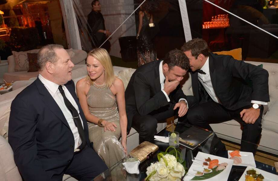 Producer Harvey Weinstein, actors Naomi Watts, Liev Schreiber, and Bradley Cooper attend The Weinstein Company & Netflix's 2014 Golden Globes After Party presented by Bombardier, FIJI Water, Lexus, Laura Mercier, Marie Claire and Yucaipa Films at The Beverly Hilton Hotel on January 12, 2014 in Beverly Hills, California. Photo: Charley Gallay, Getty Images For The Weinstein Company)