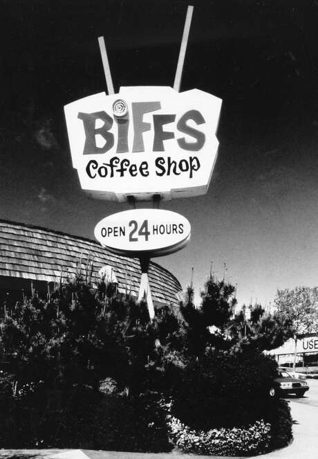 Biff's Coffee Shop on Broadway had interesting architecture and a loyal customer base. It closed in the late 1990s. This photo was taken Oct. 2, 1990. Photo: Jerry Telfer, The Chronicle