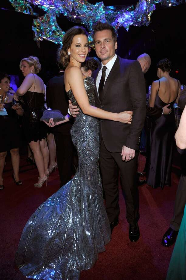 Actress Kate Beckinsale and director Len Wiseman attend the 2014 InStyle And Warner Bros. 71st Annual Golden Globe Awards Post-Party at The Beverly Hilton Hotel on January 12, 2014 in Beverly Hills, California. Photo: John Sciulli, Getty Images For InStyle