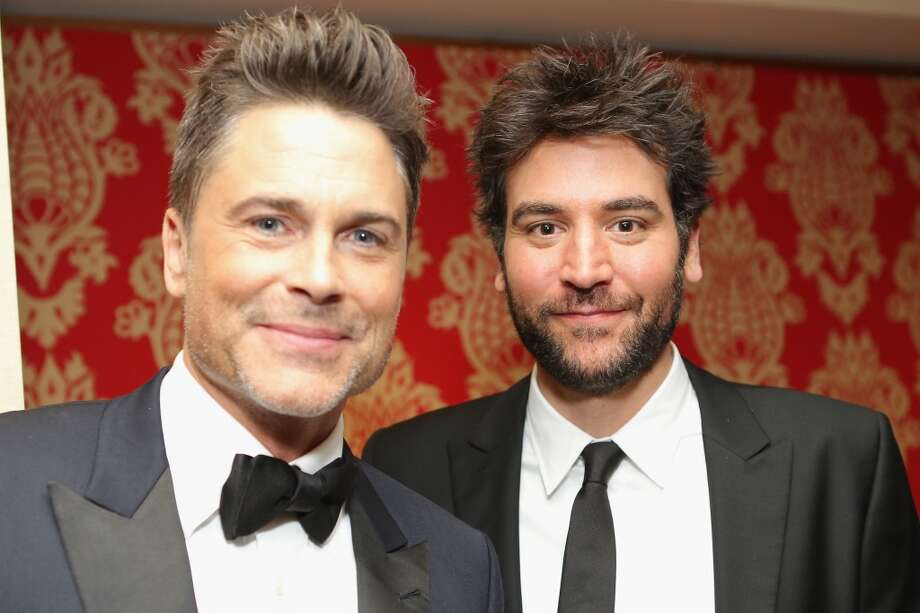 Actor Rob Lowe (with actor Josh Radnor, right), 2014  Photo: Mike Windle, Getty Images