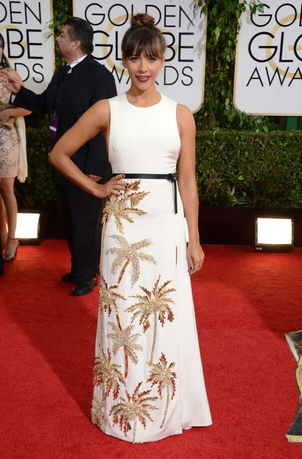 White. Rashida Jones (of Parks and Recreation) in Rausto Puglisi. Photo: Jordan Strauss, Associated Press
