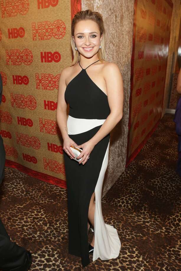 Black (and white). Hayden Panettiere (of Nashville) in Tom Ford. Photo: Mike Windle, Getty Images