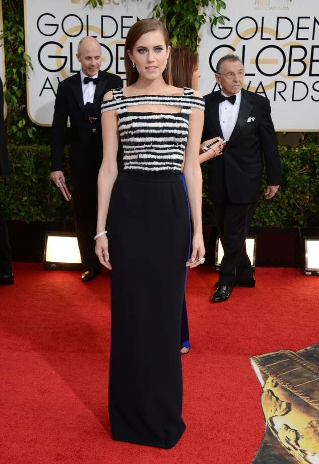 Black (and white). Allison Williams in Alexander McQueen. Photo: Jordan Strauss, Associated Press