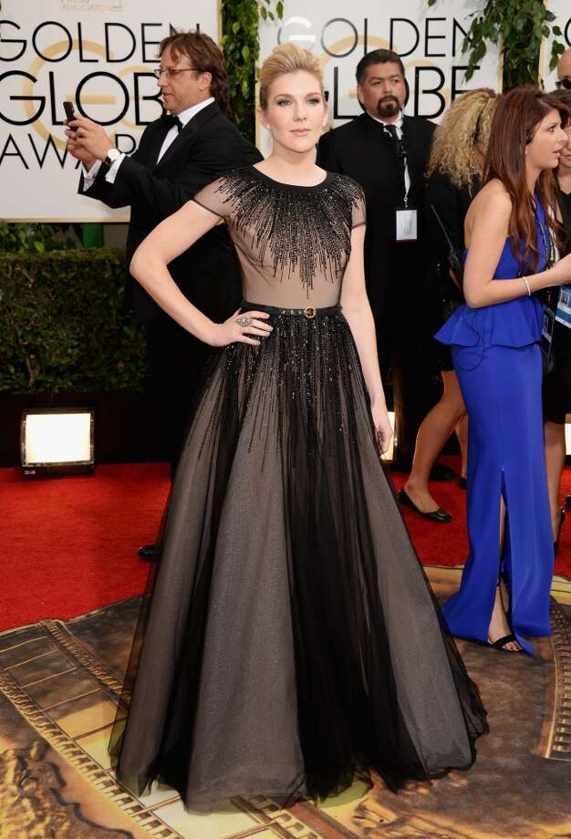 Cap sleeves. Lily Rabe in Georges Hobeika. Photo: Jason Merritt, Getty Images